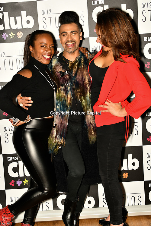 Tina T, Jay Kamiraz - Mr Fabulous and Caroline Morgan attend BBC Club at W12 Studios Lunch party on 14 March 2019, London, UK.