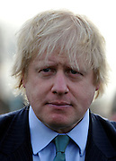 © Licensed to London News Pictures. 14/02/2012, Hillingdon, UK. BORIS JOHNSON. Mayor of London Boris Johnson marks the delivery of the the 10,000 tree promised to Londoners in his manifesto by planting a Acer Campestre, commonly known as a Field Maple, in Hillingdon today 14 February 2012.  Photo credit : Stephen Simpson/LNP