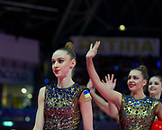 The Ukrainian team during the final of the World Cup  on April 7, 2019 in Pesaro, Italy.