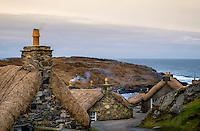 LEWIS AND HARRIS, SCOTLAND - CIRCA APRIL 2016: Blackhouses in the Island of Lewis, Scotland..