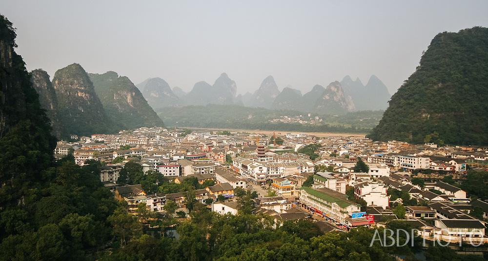 Mountains River and Boats Yangshuo China