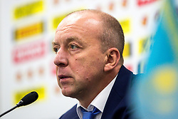 Andrei Skabelka, head coach of Kazakhstan at press conference after ice hockey match between Slovenia and Kazakhstan at IIHF World Championship DIV. I Group A Kazakhstan 2019, on April 29, 2019 in Barys Arena, Nur-Sultan, Kazakhstan. Photo by Matic Klansek Velej / Sportida