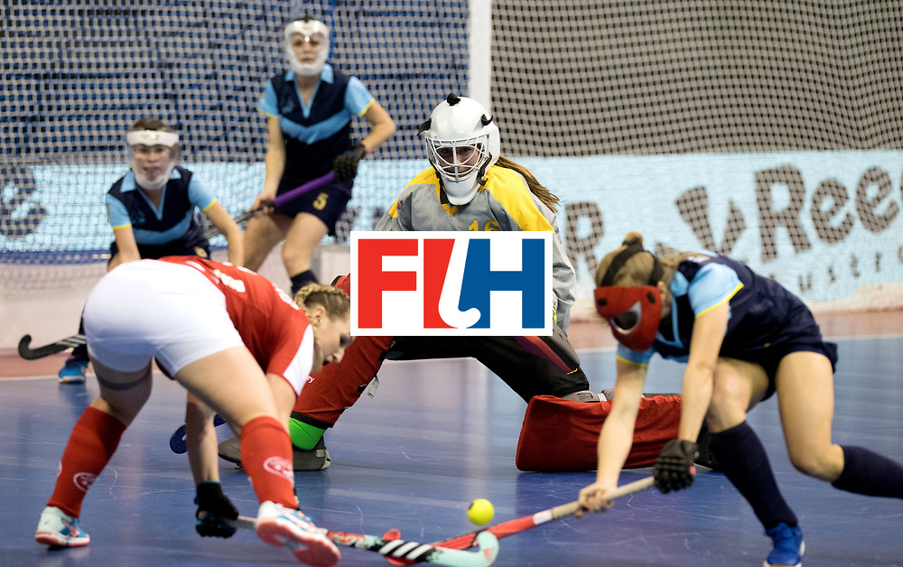 BERLIN - Indoor Hockey World Cup<br /> Quarterfinal 2: Ukraine - Switzerland<br /> foto: FADIEIEVA Alina.<br /> WORLDSPORTPICS COPYRIGHT FRANK UIJLENBROEK