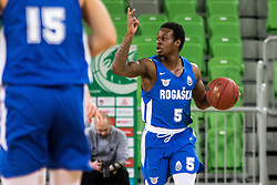 Rashun Jarrel Davis of KK Rogaska during 2nd leg basketball match between KK Petrol Olimpija and KK Rogaska in quarter final of  Pokal SPAR 2018/19, on January 14, 2019 in Arena Stozice, Ljubljana, Slovenia. Photo by Matic Ritonja / Sportida