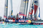 The Great Sound, Bermuda, 20th June 2017, Red Bull Youth America's Cup Finals. Race two. Team France Jeune.