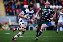 Ed Holmes of Bristol Bears takes on Dan Cole of Leicester Tigers - Mandatory by-line: Robbie Stephenson/JMP - 04/01/2020 - RUGBY - Welford Road - Leicester, England - Leicester Tigers v Bristol Bears - Gallagher Premiership Rugby