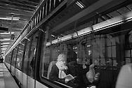 Paris 18th district.  Boulevard de la Chapelle elevated subway  metro line