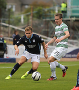 Dundee's Greg Stewart and Celtic's Stefan Johansen - Dundee v Celtic SPFL Premiership at Dens Park<br /> <br />  - &copy; David Young - www.davidyoungphoto.co.uk - email: davidyoungphoto@gmail.com