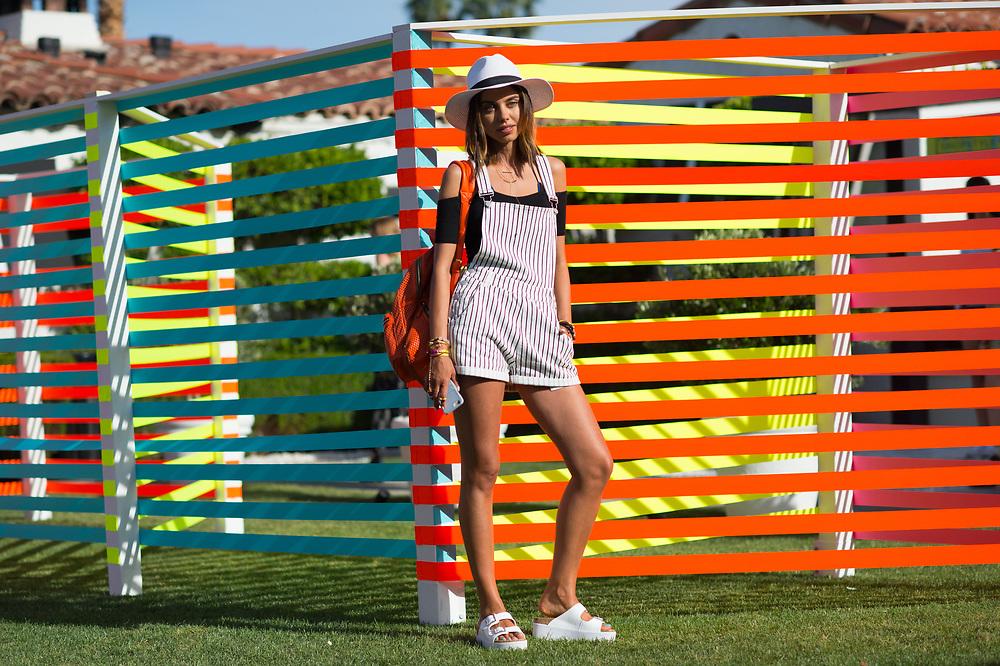 Annabelle Fleur at at the Popsugar Coachella Party 2015