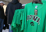 September 22 2012: A green Iowa shirt to support former Iowa Hawkeyes Brett Greenwood for sale outside Kinnick Stadium before the start of the NCAA football game between the Central Michigan Chippewas and the Iowa Hawkeyes at Kinnick Stadium in Iowa City, Iowa on Saturday September 22, 2012. Central Michigan defeated Iowa 32-31.