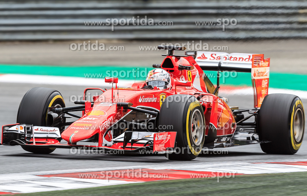 19.06.2015, Red Bull Ring, Spielberg, AUT, FIA, Formel 1, Grosser Preis von Österreich, Training, im Bild Sebastian Vettel[, (GER, Scuderia Ferrari) // during the Practice of the Austrian Formula One Grand Prix at the Red Bull Ring in Spielberg, Austria, 2015/06/19, EXPA Pictures © 2014, PhotoCredit: EXPA/ JFK
