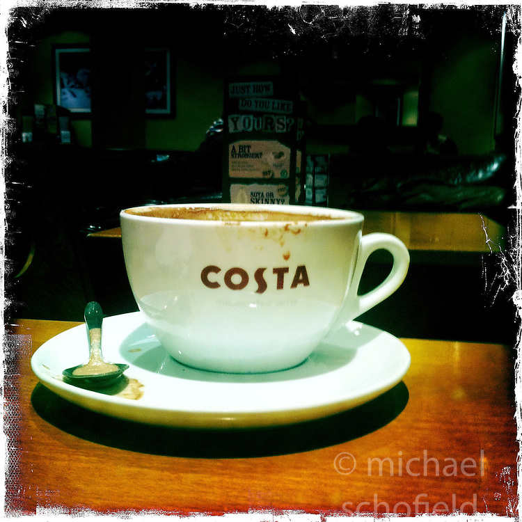 Costa coffee..Hipstamatic images taken on an Apple iPhone..©Michael Schofield.