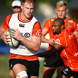 DURBAN, SOUTH AFRICA - MAY 21: Daniel Du Preez of the Cell C Sharks during the Cell C Sharks training session at Jonsson Kings Park on May 21, 2019 in Durban, South Africa. (Photo by Steve Haag/Gallo Images)