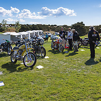 Judging the motorcycle entries, at the 2012 Santa Fe Concorso.
