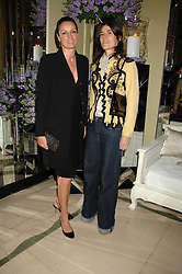 Left to right, TRICIA SIMONON and BELLA FREUD at the 10th Anniversary Party of the Lavender Trust, Breast Cancer charity held at Claridge's, Brook Street, London on 1st May 2008.<br />