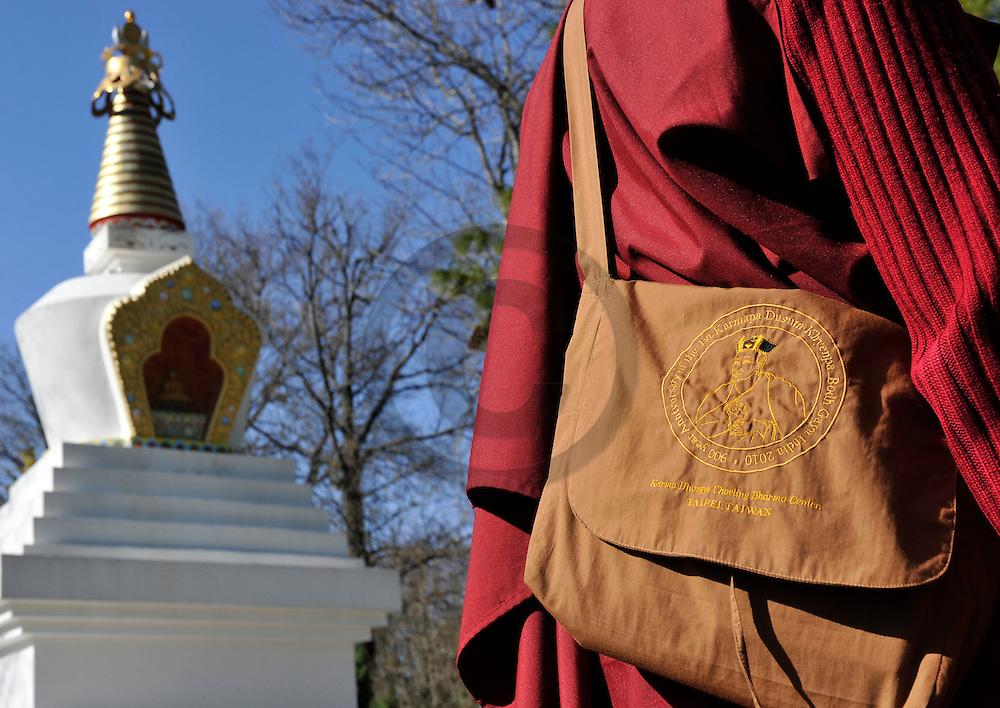 21/03/11 - BIOLLET - PUY DE DOME - FRANCE - Le Lama NAMGYAL au centre bouddhiste Dhagpo Kundreul Ling. Ermitages monastiques et centres de retraite de la lignee Karma Kagyu en Europe - Photo Jerome CHABANNE