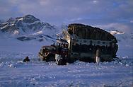 Afghanistan. MIR ZAKAH AREA IN WINTER, TRUCK CONVOY  CAUGHT IN MELTING SNOW  PAKTYA PROVINCE    the treasure of Mir-Zakah   /    / PROVINCE DU PAKTIA EN HIVER LA REGION DE MIR ZAKAH, CONVOIS DE CAMIONS EMBOURBES DANS LA NEIGE.   PAKTYA PROVINCE   LE 1ER MARS 2005 EN DIRECTION DE MIRZAKA,  LE VILLAGE AU TRESOR. LE TRAFIC EST INTENSE. C'EST LA PRINCIPALE VOIE DE COMMUNICATION ENTRE L'AFGHANISTAN ET LA VALLEE DE L'INDUS. BERCEAU DES TALIBAN.  CETTE REGION A ETE DANS L'ANTIQUITE LE CREUSET DES CIVILISATIONS GRECO-INDIENNES.  /     L0009848  /  R20401  /  P122008