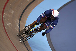 France's Gregory Bauget in the sprint qualifying during Round One of the 2017/18 Revolution Series at Lee Valley Velo Park, London.