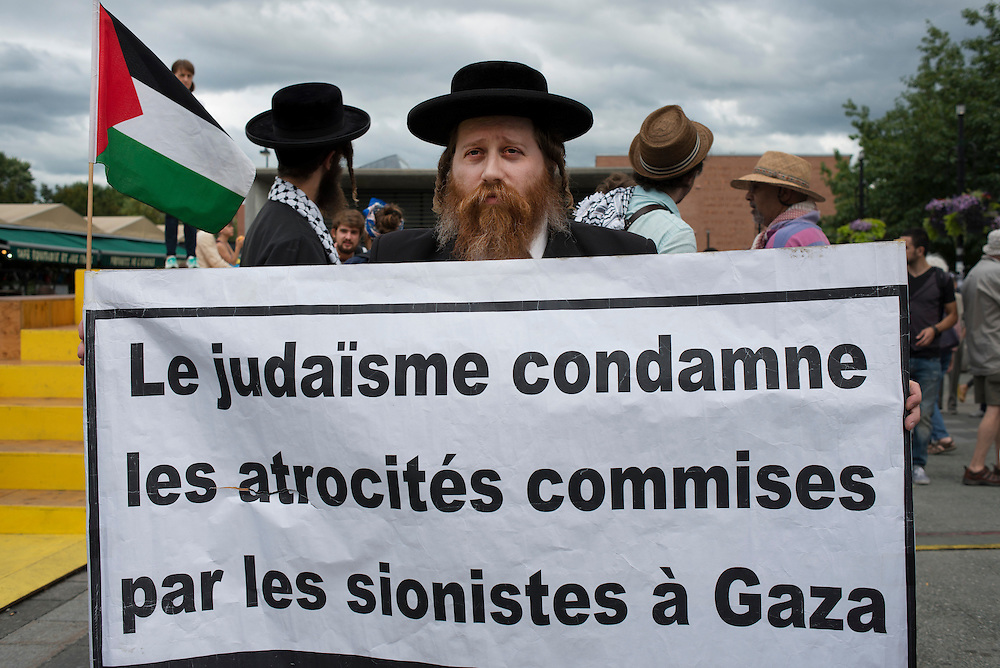 """Courageous presence of Orthodox Jews and their support for the Palestinian cause. Orthodox Jews of Neturei Karta refuse to recognize the existence of a so-called """"State of Israel""""."""