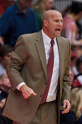 Nov 13, 2011; Stanford CA, USA;  Gonzaga Bulldogs head coach Kelly Graves on the sidelines against the Stanford Cardinal during the first half at Maples Pavilion.  Stanford defeated Gonzaga 76-61. Mandatory Credit: Jason O. Watson-US PRESSWIRE
