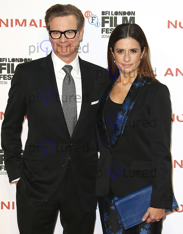 Colin Firth & Livia Firth, BFI London Film Festival 2016: Nocturnal Animals - Headline Gala, Odeon Leicester Square, London UK, 14 October 2016, Photo by Brett D. Cove