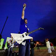 Latin Grammy Award winners, Rabanes, performing in the new, Omar Torrijos, baseball stadium in the city of Santiago, Veraguas.