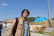 Dr. Shinzo Kimura i byn Shidamyo. Fukushima Prefektur, Japan