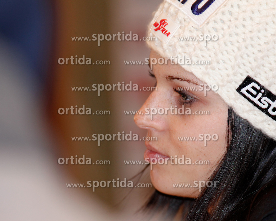 06.02.2013, Hotel Pichlmayrgut, Schladming, AUT, FIS Weltmeisterschaften Ski Alpin, Pressekonferenz OeSV, im Bild Anna Fenninger (AUT) // Anna Fenninger from Austria at a press conference of the OeSV during the FIS Ski World Championships 2013 at the Media Centre, Schladming, Austria on 2013/02/06. EXPA Pictures © 2013, PhotoCredit: EXPA/ Martin Huber