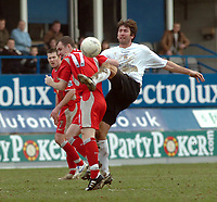 Photo: Kevin Poolman.<br />Luton Town v Blackburn Rovers. The FA Cup. 27/01/2007. Russell Perrett of Luton gets the better of Francis Jeffers of Blackburn.