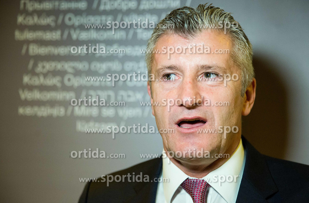 Davor Suker (Croatia) during Official opening of the Slovenian National football centre Brdo (Nacionalni nogometni center Brdo), on May 6, 2016, in Brdo pri Kranju, Slovenia. Photo by Vid Ponikvar / Sportida