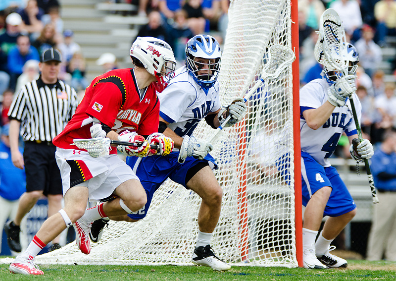 March 5 2011:Duke Terrence Molinari (32) defends against Marylands Drew Snider#23.