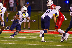 NORMAL, IL - September 21: Nate Stinson during a college football game between the ISU (Illinois State University) Redbirds and the Northern Arizona University (NAU) Lumberjacks on September 21 2019 at Hancock Stadium in Normal, IL. (Photo by Alan Look)