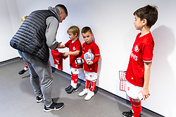 Tommy Rowe as Mascots meet the players - Rogan/JMP - 30/11/2019 - Ashton Gate Stadium - Bristol, England - Bristol City v Huddersfield Town - Sky Bet Championship.