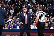 INDIANAPOLIS, IN - NOVEMBER 18: Head coach Mike Krzyzewski of the Duke Blue Devils during the Champions Classic basketball event at Bankers Life Fieldhouse against the Michigan State Spartans on November 18, 2014 in Indianapolis, Indiana. The Blue Devils defeated the Spartans 81-71. (Photo by Joe Robbins)
