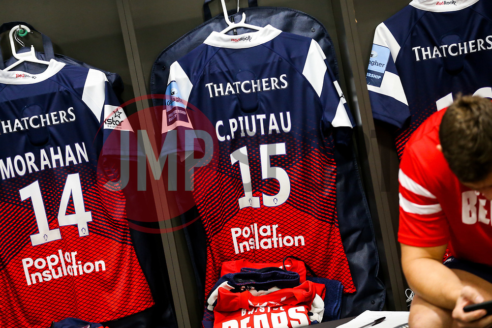 Shirt of Charles Piutau of Bristol Bears hangs in the dressing room - Rogan/JMP - 18/11/2018 - RUGBY UNION - Ashton Gate Stadium - Bristol, England - Bristol Bears v Exeter Chiefs - Gallagher Premiership Rugby.