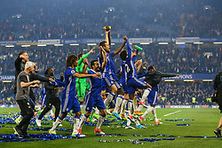 Chelsea celebrate at the end of the match, final score Chelsea 4-3 Watford - Mandatory by-line: Jason Brown/JMP - 15/05/2017 - FOOTBALL - Stamford Bridge - London, England - Chelsea v Watford - Premier League