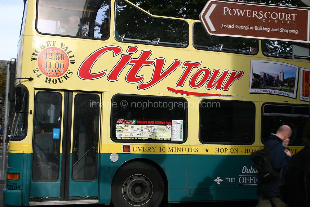 Tour bus Dublin Ireland<br />