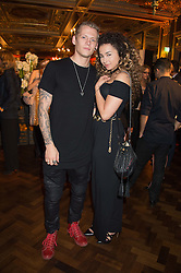 ELLA EYRE and LEWI MORGAN at the Cointreau Creative Crew Launch at the Cafe Royal, Regent's Street, London on 27th October 2015.