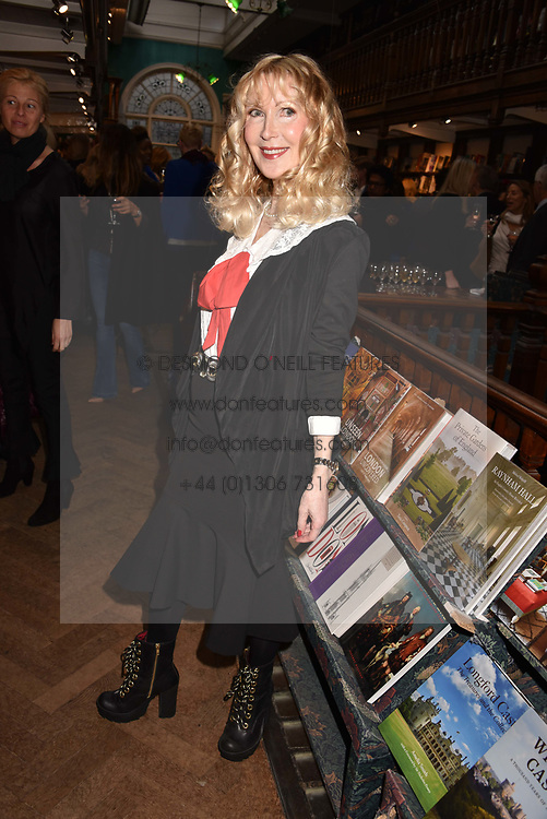 Basia Briggs at a party to celebrate the publication of Saving The World by Paola Diana at Daunt Books, Marylebone, London England. 2 May 2018.