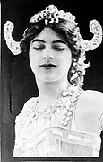 Mata Hari (stage name of Margaretha Geertruida 'Grietje' Zelle -1876-1917). Dutch exotic dancer and courtesan arrested in Paris by the French, executed by firing squad for spying for Germany during World War I. Espionage