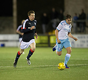 Dundee&rsquo;s Craig Wighton and Forfar's Murray MacKintosh - Forfar Athletic v Dundee, Martyn Fotheringham testimonial at Station Park, Forfar.Photo: David Young<br /> <br />  - &copy; David Young - www.davidyoungphoto.co.uk - email: davidyoungphoto@gmail.com