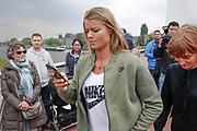 UTRECHT, THE NETHERLANDS. 2017, MAY 13. Dafne Schippers bij de opening van de Dafne Schippersbrug.