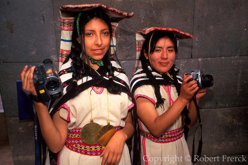 PERU, CUZCO, INCA CULTURE Coricancha Sun Temple; mamaconas