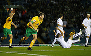 Leeds - Monday October 19th, 2009: Grant Holt (C) of Norwich City celebrates their first goal during the Coca Cola League One match at Elland Road, Leeds. (Pic by Paul Thomas/Focus Images)..