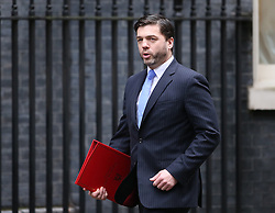 © Licensed to London News Pictures. 01/12/2015. London, UK Secretary of State for Wales STEPHEN CRABB arrives for a Cabinet meeting ahead of a vote in Parliament on bombing IS targets in Syria. Photo credit: Peter Macdiarmid/LNP