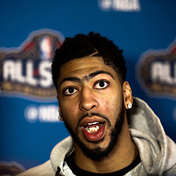 Feb 17, 2017; New Orleans, LA, USA; Western Conference All Star Anthony Davis during the All Star media availability at the Ritz Carlton. Mandatory Credit: Derick E. Hingle-USA TODAY Sports