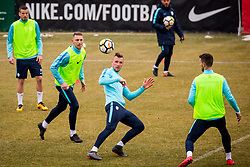 Press conference and official training of Slovenian national football team before friendly match against Belarus, on March 26, 2018 in National Football Centre, Brdo pri Kranju, Kranj, Slovenia. Photo by Ziga Zupan / Sportida