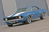 1969 Chevrolet Z28 Camaro Photo Shoot .Le Mans Blue .Docklands, Melbourne, Victoria .6th of June 2009.(C) Joel Strickland Photographics.Use information: This image is intended for Editorial use only (e.g. news or commentary, print or electronic). Any commercial or promotional use requires additional clearance.
