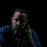London,England,UK : 17th July 2016 : Andrew Weatherall preforms at the Citadel Festival 2016 at Victoria Park, London,UK. Photo by See Li