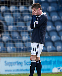 Raith Rovers Joe Cardle misses a chance..Raith Rovers 0 v 0 Falkirk, 27/4/2013..© Michael Schofield.